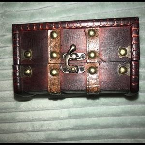 Old treasure chest. Items inside not included.